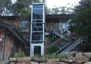 External lift and access stairs design Wahroonga